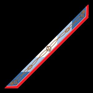Bandeaux 86x6cm Corda Azzurro
