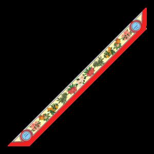 Bandeaux 86x6cm Fiori Rosso