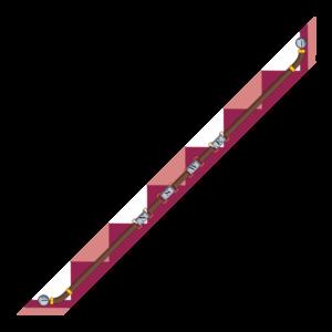 Bandeaux 86x6cm Venti Viola