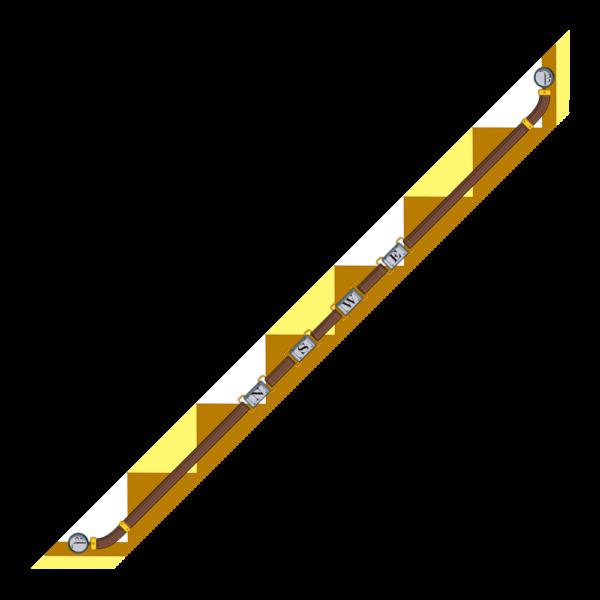 Bandeaux 86x6cm Venti Giallo