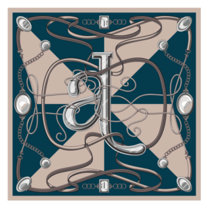 Foulard 45x45cm Logo
