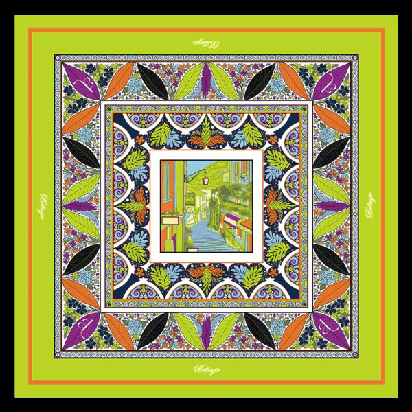 Foulard 90x90cm Bellagio Verde